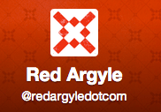 Red Argyle on Twitter