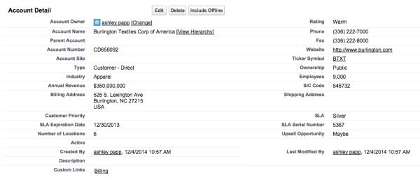 Salesforce Page Layouts