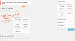 Step Two for Web-to-Lead Form in WordPress