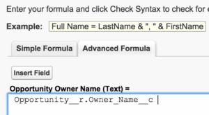 Screen shot: Adding Merge Fields in Salesforce Template Builder_2