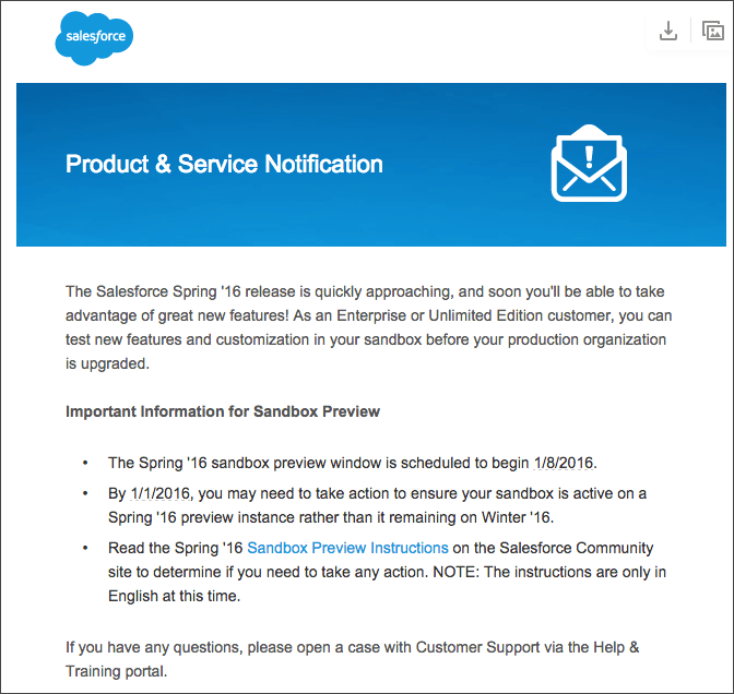 Salesforce Spring 2016 Release Notes Announcement
