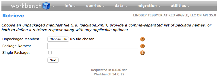 Metadata backup from Workbench instructions, image 3